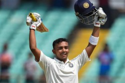 In Pics Prithvi Shaw Becomes Youngest Indian Score Century On Debut
