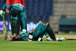 Pakistan Opener Imam Ul Haq Hit A Bouncer From Lockie Ferguson During 2nd Odi
