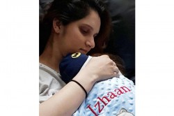 Sania Mirza Shares New Photo Baby Izhaan Wrapped His Customized Woollen Blanket