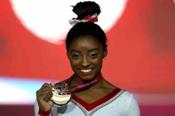 Brilliant Biles Claims Record 13th Gold Doha