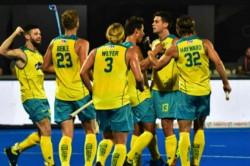 Hockey World Cup 2018 Title Holders Australia Struggle Past Ireland 2 1 Wc