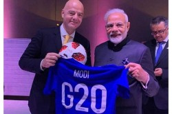 Prime Minister Narendra Modi Thanks Fifa President Gianni Infantino After Receiving Football Jersey