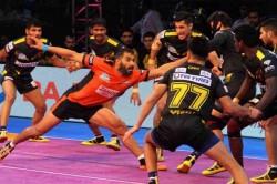Pro Kabaddi League Up Yoddha Beat Telugu Titans U Mumba