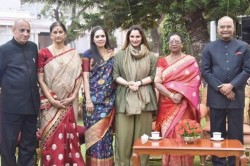 President Ram Nath Kovind Hosts At Home Party Residence Sania Mirza Attends Function