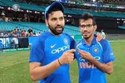 India Vs Australia Yuzvendra Chahal Interviews Rohit Sharma On His Century In Sydney
