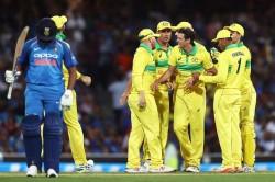 India Vs Australia 1st Odi Rohit Ton Vain As Australia Win By 34 Runs