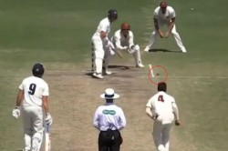 Watch Another Bizarre Moment Sheffield Shield As Bowler Pitches Ball Outside Pitch Area