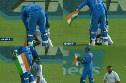 Watch Video Lightning Quick Dhoni Shows His Love Indian Flag