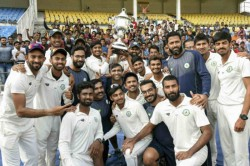 Irani Cup Vidarbha Retain Trophy Celebrate Grand Double