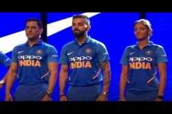 Team India S New Limited Overs Jersey Icc World Cup Unveiled Watch