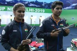 Manu Bhaker Saurabh Chaudhary Smash World Record In 10m Air Pistol Mixed Team Match