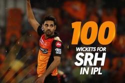 Sunrisers Hyderabad Vs Delhi Capitals Bhuvneshwar Kumar Gets 100 Wickets For Srh
