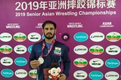 Asian Wrestling Championships Harpreet Singh Bags Silver Bronze For Gyanender