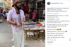 Matthew Hayden Goes Undercover Shopping In Chennai Streets But Fans Arent Buying It