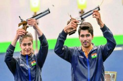 Issf World Cup 2019 Manu Bhaker Saurabh Chaudhary Win 10m Air Pistol