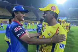 When Dhoni Met Dada Twitter Reacts To Ms Dhoni Meeting Sourav Ganguly After Csk Vs Dc
