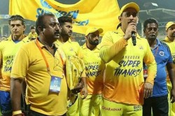 Ms Dhoni Pays Tribute To Csk Fans Thala Is A Big Nickname They Have Given Me