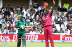 Icc Cricket World Cup 2019 Wi Vs Pak Live Score Thomas Holder Shine As Pakistan Post