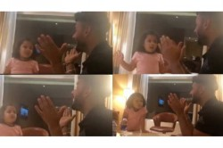 Ipl 2019 Ms Dhoni S Daughter Ziva Teaches Rishabh Pant Hindi Voweks In A Viral Video