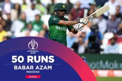 Babar Azam Becomes The First Pakistan Batsman To Score A Half Century In Cwc