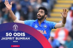 Cwc 2019 Jasprit Bumrah For Making His 50th Odi Appearance