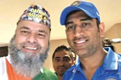 Ms Dhoni Inspired Pakistan Born Fan Cheer For India In Manchester