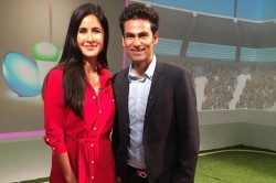 English Title Ex Cricketer Mohammad Kaif Meets Bollywood Actress Katrina Kaif