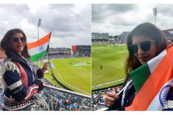 Cwc 19 India Vs Pakistan Tollywood Actress Lakshmi Manchu Appears In India Pak Match