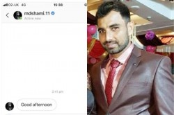 Mohammed Shami At It Again Sends Message To Unknown Lady On Instagram