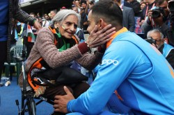 Virat Kohli Takes Blessings From Elderly Indian Fan After Beating Bangladesh In Cwc