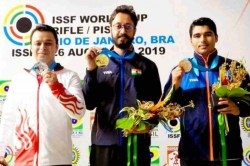 Issf World Cup Abhishek Verma Wins Gold Bronze For Saurabh Chaudhary In 10m Air Pistol