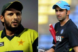 Article 370 Gautam Gambhir Shahid Afridi Lock Horns On Twitter Over Latter Kasmir Tweet