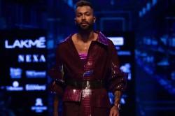 Indian Cricketer Hardik Pandya Walks The Ramp At Lakme Fashion Week
