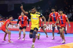 Telugu Titans And U P Yoddha Play Out The First Tie Of Season