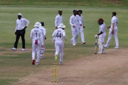 India Vs West Indies Cheteshwar Pujara Ton Ishant Sharma And Umesh Yadav Shine