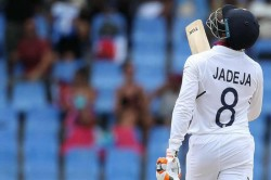 India Vs West Indies Live Score 1st Test Day 2 In Antigua India All Out 297 After Jadeja Surge