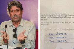 Kapil Dev Led Cac Trolled For Misspelling Mike Hesson S Name In Offcial Bcci Letter