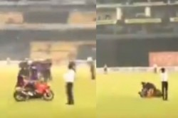 Kusal Mendis Bike Skids While Celebrating The Odi Series Win Video Goes Viral