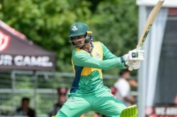 Global T20 Canada Shoaib Malik Shatters Glass Window With Huge Sixes
