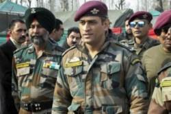 Kashmir Duty Lieutenant Colonel Ms Dhoni Entertains Territorial Army Battalion Soldiers With Big B