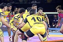 Pkl 2019 Vishal Bhardwaj Helps Clinch A Win For The Telugu Titans Vs Jaipur Pink Panthers