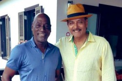 India Vs West Indies Ravi Shastri Shares Picture With The King In His Kingdom Ahead Of First Test