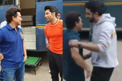 Sachin Tendulkar Plays Cricket With Bollywood Stars Varun Dhawan Abhishek Bachchan