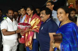 Pv Sindhu Reaches Hyderabad