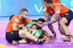 Pro Kabaddi U Mumba Down Patna Pirates In Nail Biting Finish