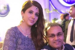 Virender Sehwag Shared A Picture With His Wife And His Caption Takes Jokes