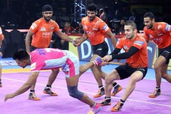 Pkl 2019 Abhishek Singh Mastery Hands U Mumba Win Over Jaipur Pink Panthers