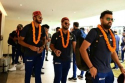 India Vs South Africa Traditional Welcome For Team India In Dharamshala