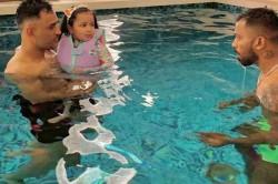 Watch Ms Dhoni And Baby Shark Ziva Enjoy Pool Time With Hardik Pandya
