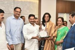 World Champion Pv Sindhu Meets Ap Cm Ys Jagan In Amaravati